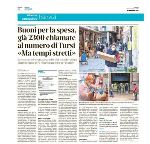 """""""Buoni spesa: gli assistenti sociali della Liguria presenti per aiutare i più fragili""""."""